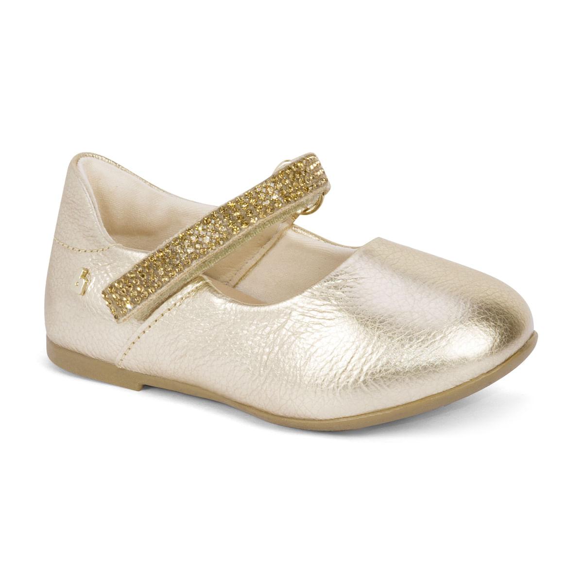 659c8ad85 Sapatilha Infantil Feminina Bibi Dourada Anjos Joy 1072025 - Bibi ...