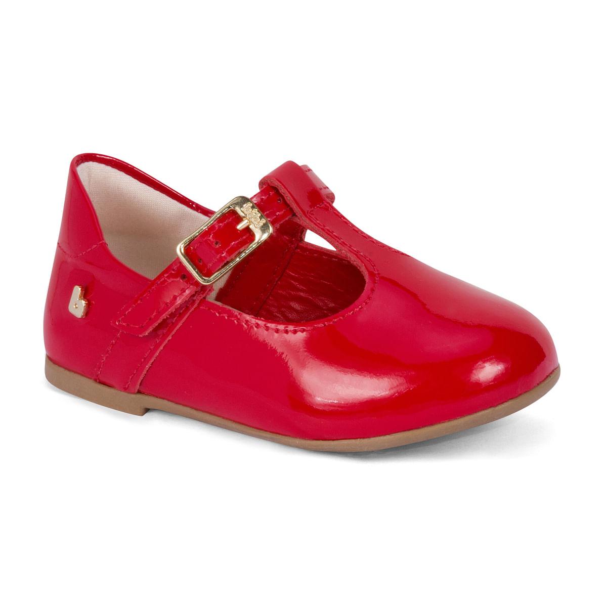 053784614a Sapatilha Infantil Feminina Bibi Vermelha Anjos Joy 1072039 - Bibi ...