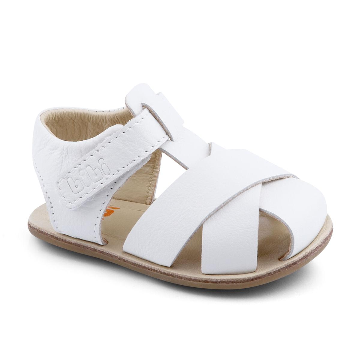 44596f61d989b Sandália Infantil Bibi Masculina Branca Afeto 1007010 - Bibi Calçados