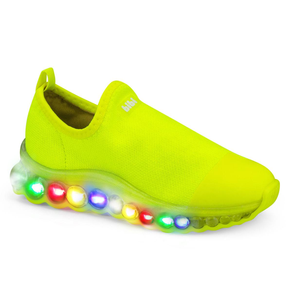 787baa6c0b0 Tênis Infantil Bibi Masculino de Luz Amarelo Neon Roller Celebration 1079036