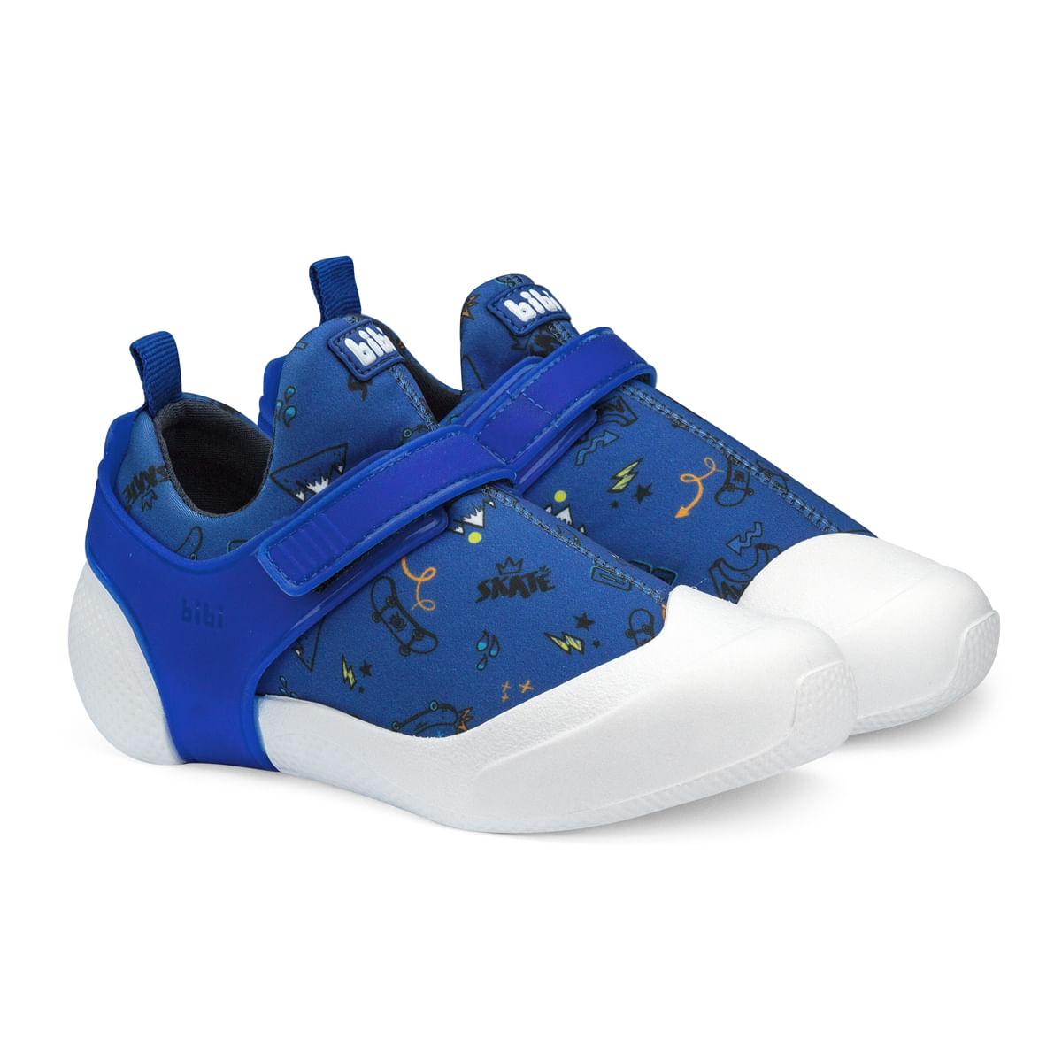bfe124b0588 Tênis Infantil Bibi Masculino Azul Estampado 2WAY 1093012 - Bibi ...