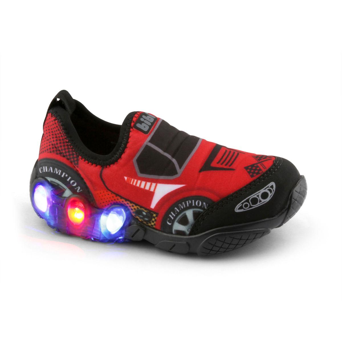 630a81fa81 Tênis Infantil Bibi Masculino de Luz Vermelho Space Wave 545151 ...