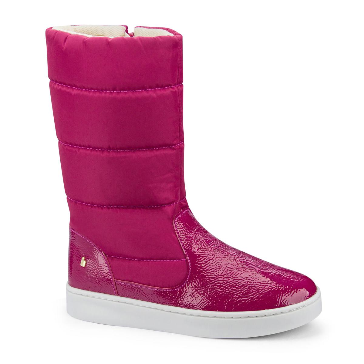 bb5e7d108dccf3 Bota Infantil Bibi Feminina Rosa Cano Alto Urban Boots