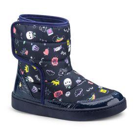 18b9e83eaf Bota Infantil Bibi Feminina Marinho Estampado Urban Boots 1087014