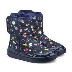 04a6169c2c Bota Infantil Bibi Feminina Marinho Estampado Urban Boots 1087014