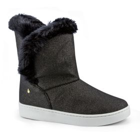 e94e951eb6 Bota Infantil Bibi Feminina Com Pelo Glitter Preta Urban Boots 1087025