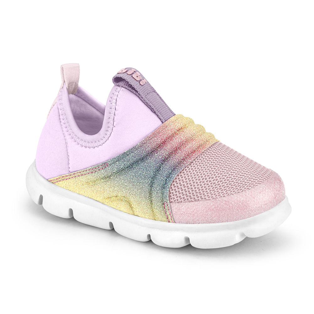 Tênis Infantil Bibi Energy Baby New II Feminino Lilás com Rainbow - 1107168