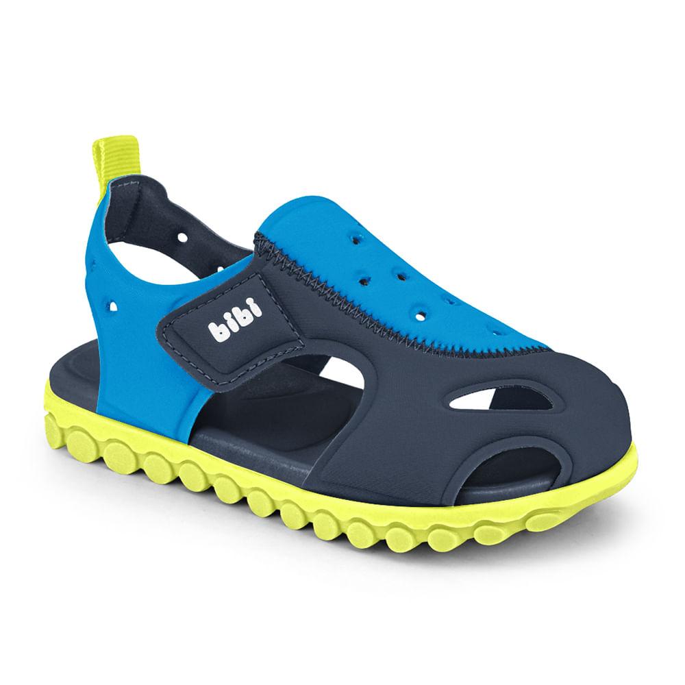 Sandália Infantil Bibi Summer Roller Sport Masculina Azul Naval com Acqua - 1103090