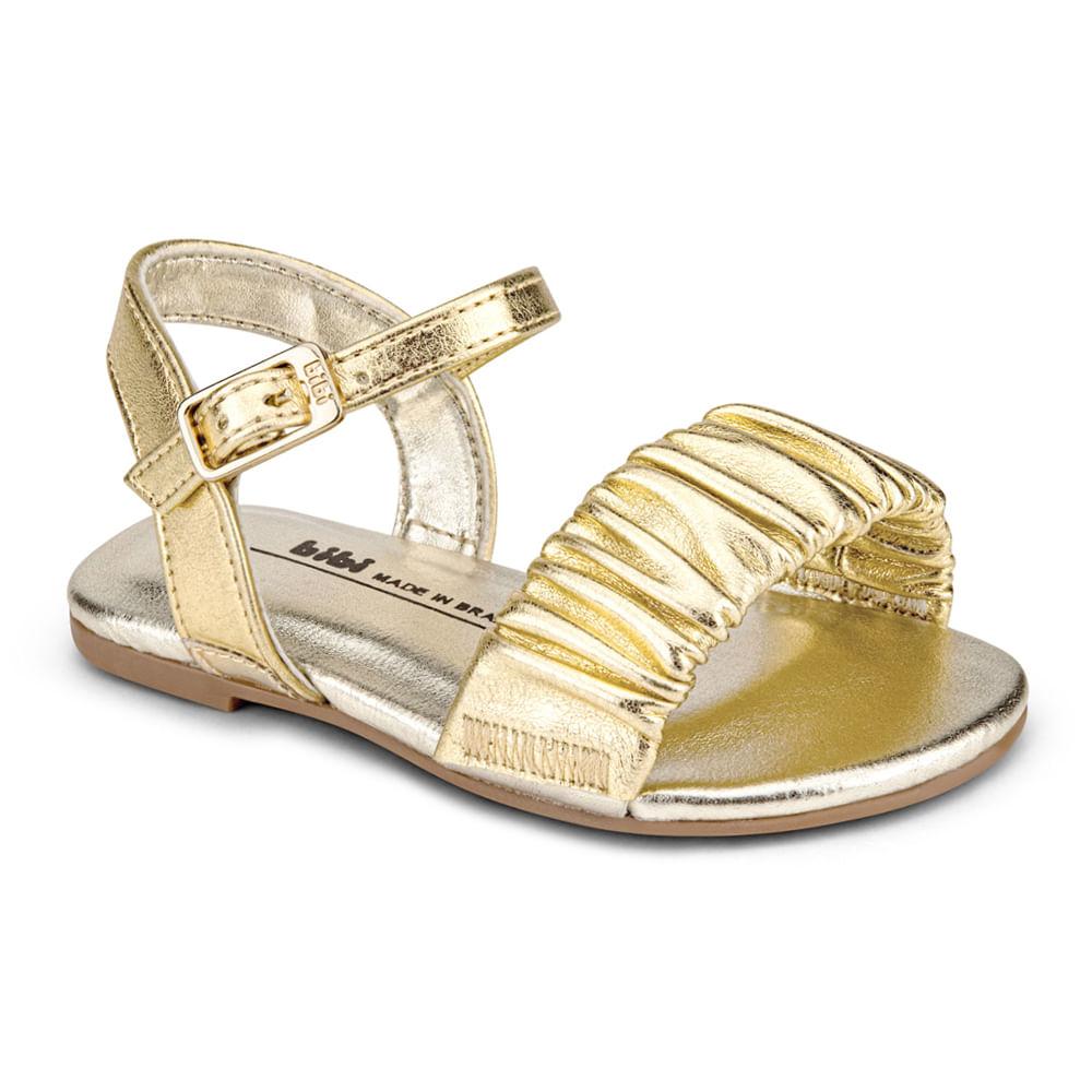 Sandália Infantil Bibi Mini Me Feminina Dourada - 1102234