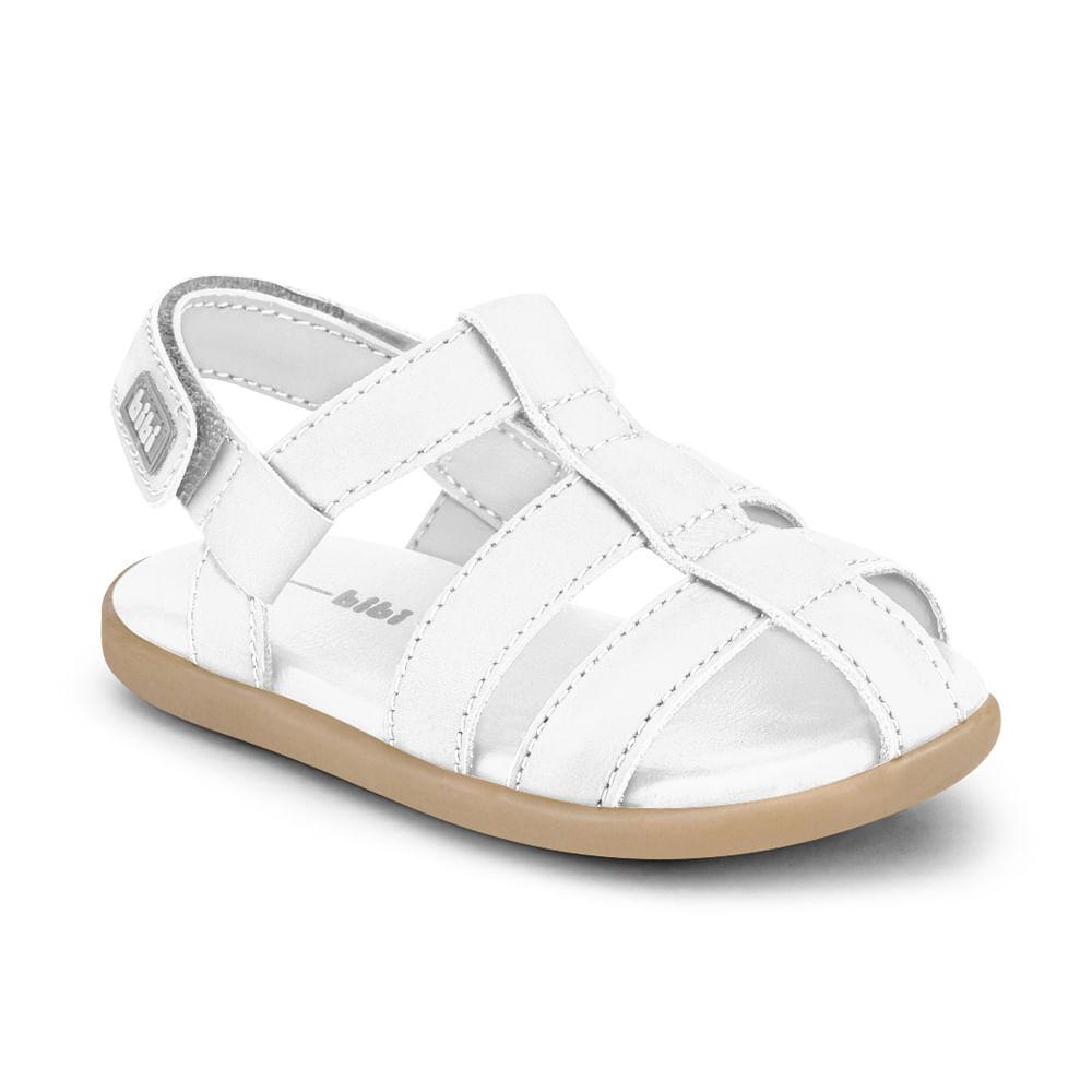 Sandália Infantil Bibi Baby Soft Masculina Branca - 1142133