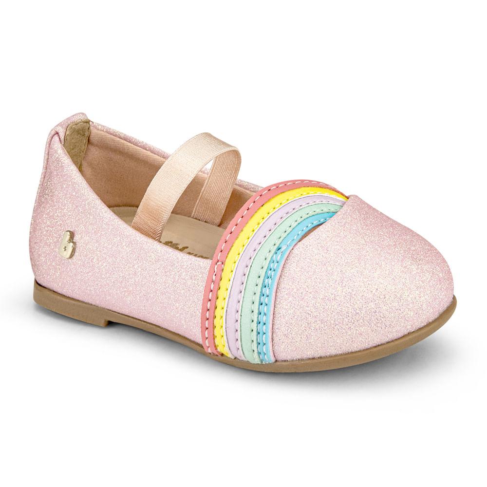 Sapatilha Infantil Bibi Anjos Mini Feminina Rainbow - 1072275