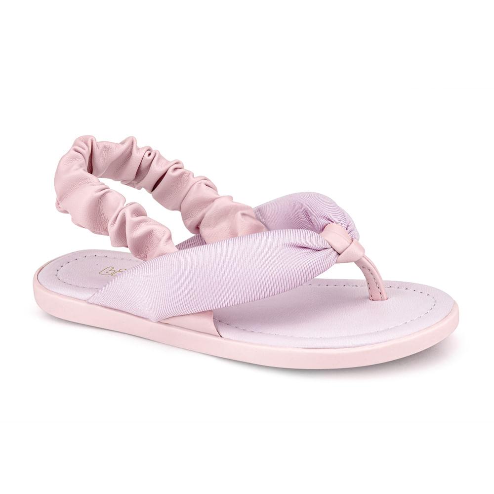 Sandália Infantil Bibi Soft Flat Feminina Rosa Sugar - 1169016