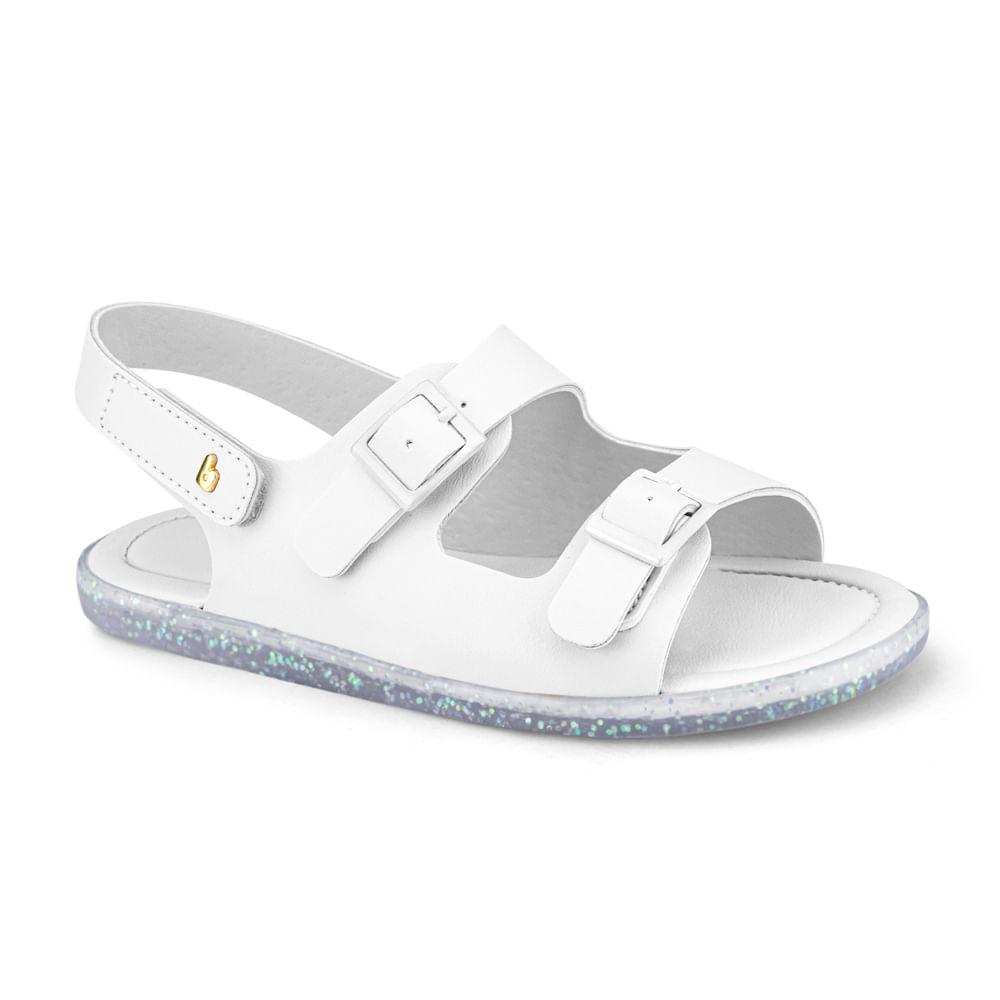 Sandália Infantil Bibi Soft Flat Feminina Branco - 1169024