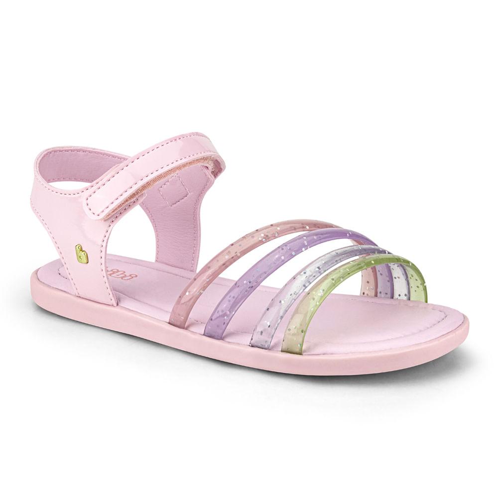 Sandália Infantil Bibi Soft Flat Feminina Rosa Sugar - 1169026